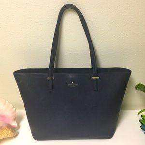 KATE SPADE navy blue tote bag medium Authentic
